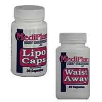 Combo of Waist Away and Lipo Caps